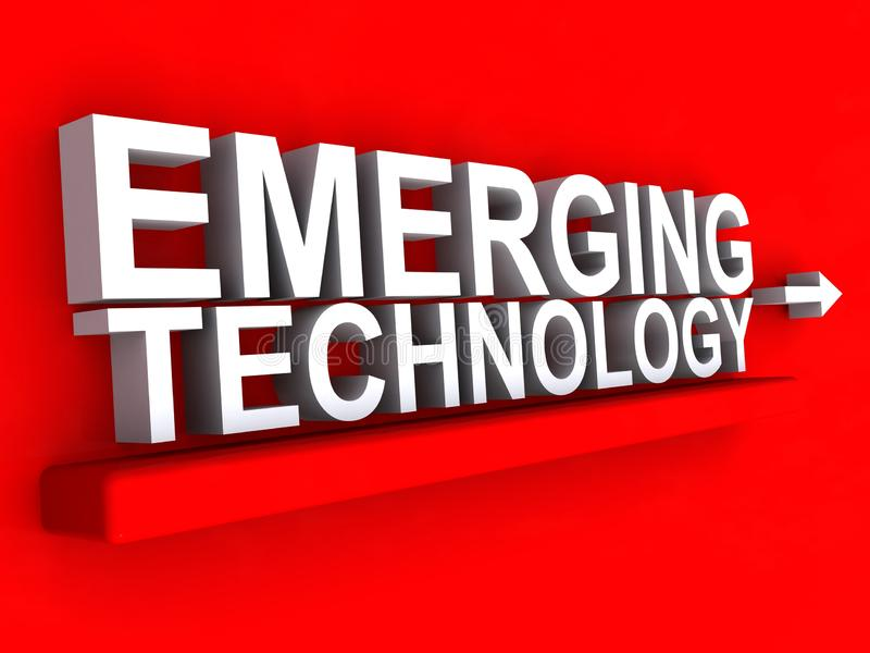Emerging technology. An illustration of the words Emerging technology vector illustration