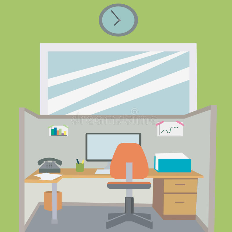 Illustration working place stock illustration