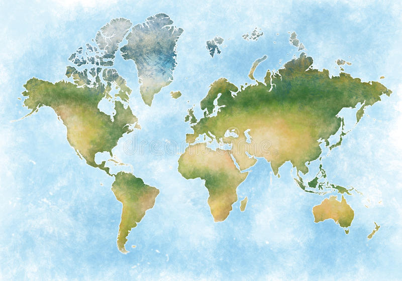 Illustration world map and the continents of planet earth stock download illustration world map and the continents of planet earth stock illustration illustration of country gumiabroncs Gallery