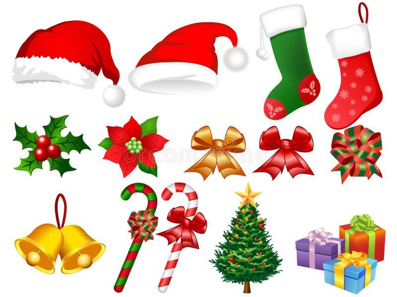Illustration of Xmas ornaments vector illustration