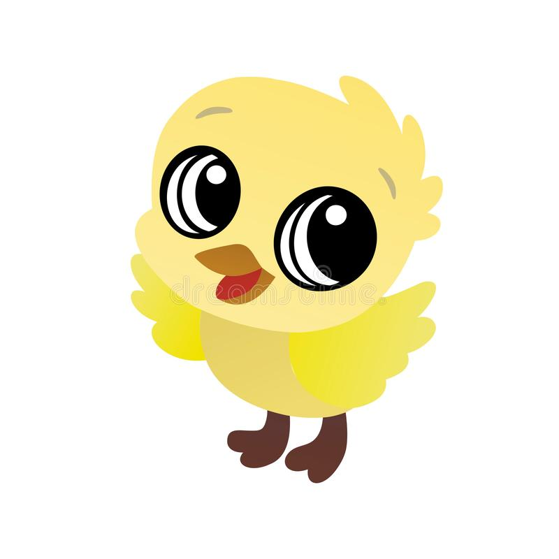 Illustration Of Yellow Baby Bird Cartoon, Cute Funny ...