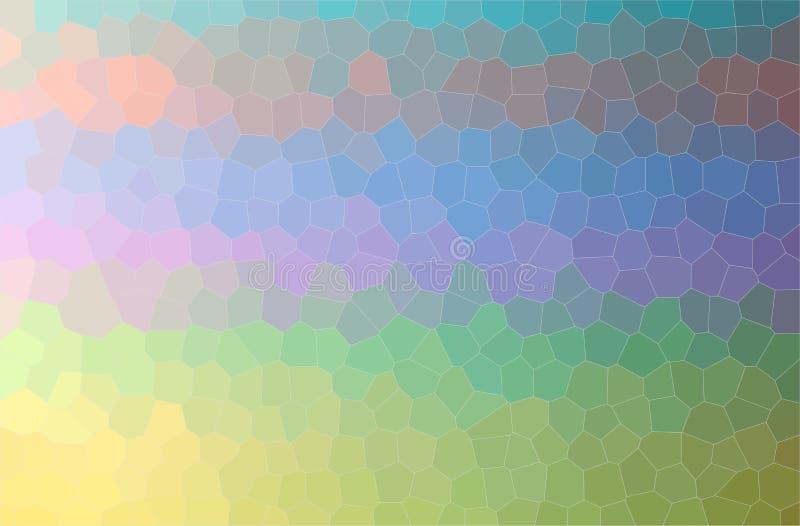 Illustration of yellow, green, purple, blue and orange little hexagon horizontal background. stock images