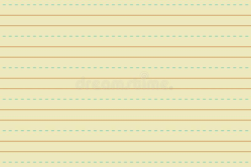 Illustration of yellow line paper texture royalty free stock images