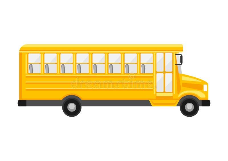 Illustration of yellow school bus. royalty free illustration