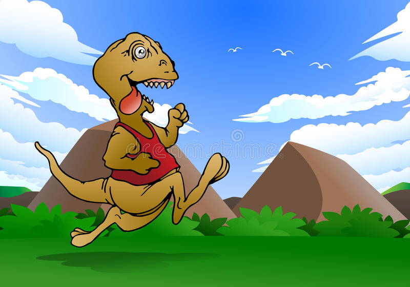 Download Dinosaur running stock illustration. Image of personality - 30186323