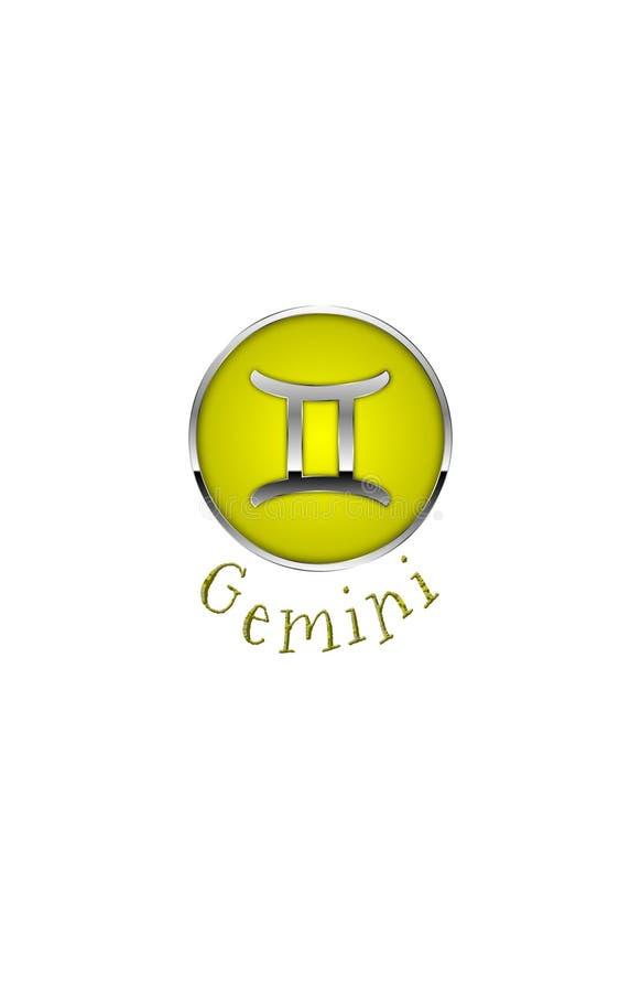Zodiac Symbol for Gemini. An Illustration for the zodiac symbol Gemini. May 22nd - June 21st Tropical Zodiac stock illustration