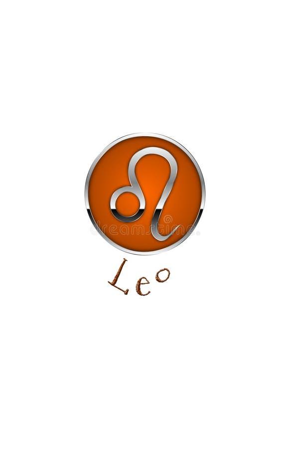 Zodiac Symbol for Leo. An Illustration for the zodiac symbol Leo. July 23rd -- August 22nd. Tropical Zodiac stock illustration