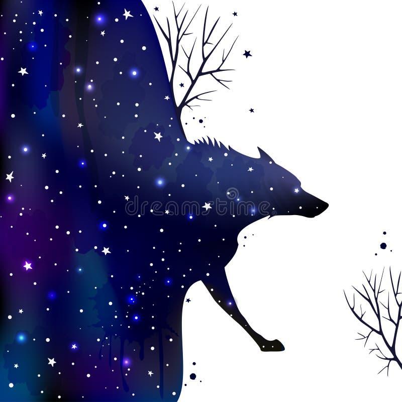 Wolf vektor illustrationer