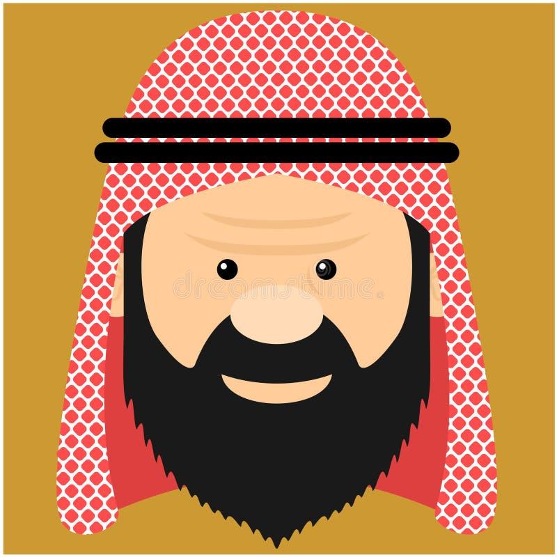 Illustrationarabprins royaltyfri illustrationer