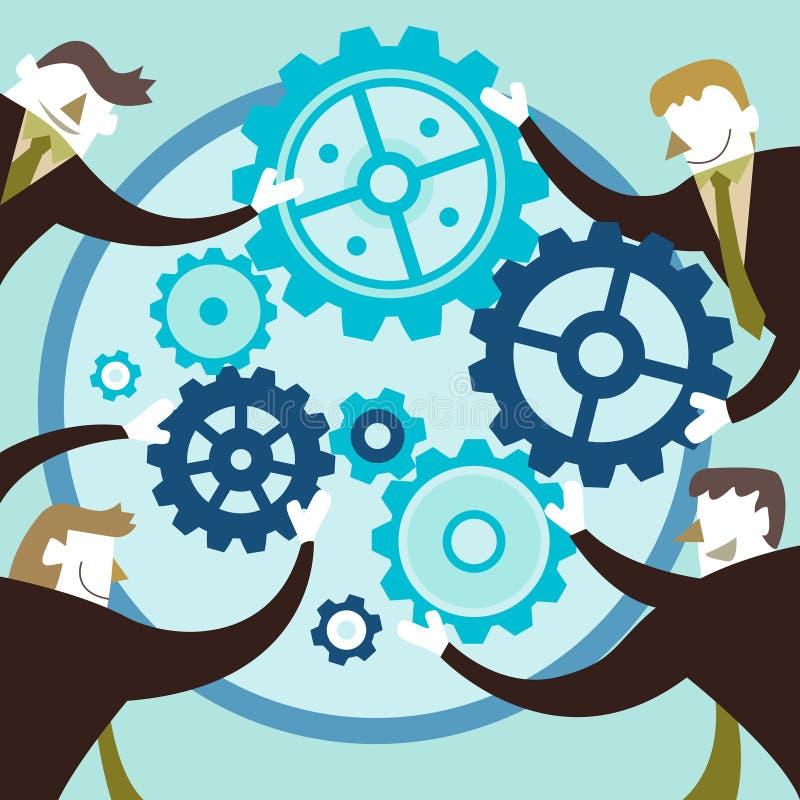 Illustrationbegrepp av idérikt samarbete stock illustrationer