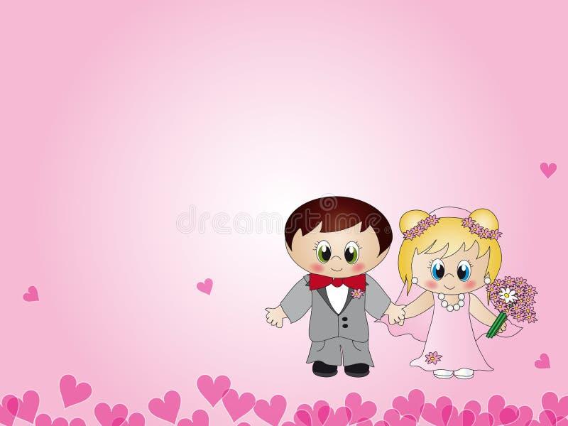 illustrationbröllop stock illustrationer