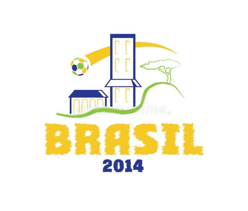 illustrationBrasilien konst 2014 royaltyfri illustrationer