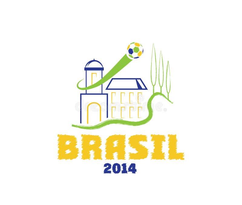 illustrationBrasilien konst 2014 stock illustrationer
