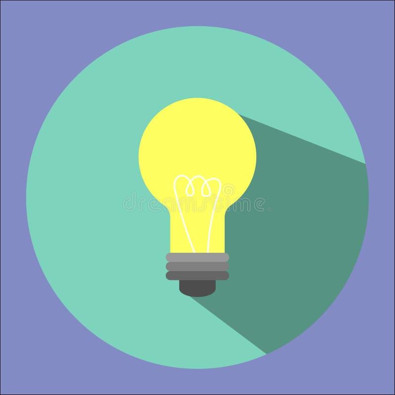 Illustrationen är en symbol för ljus kula Kan användas i olika publikationer royaltyfri illustrationer
