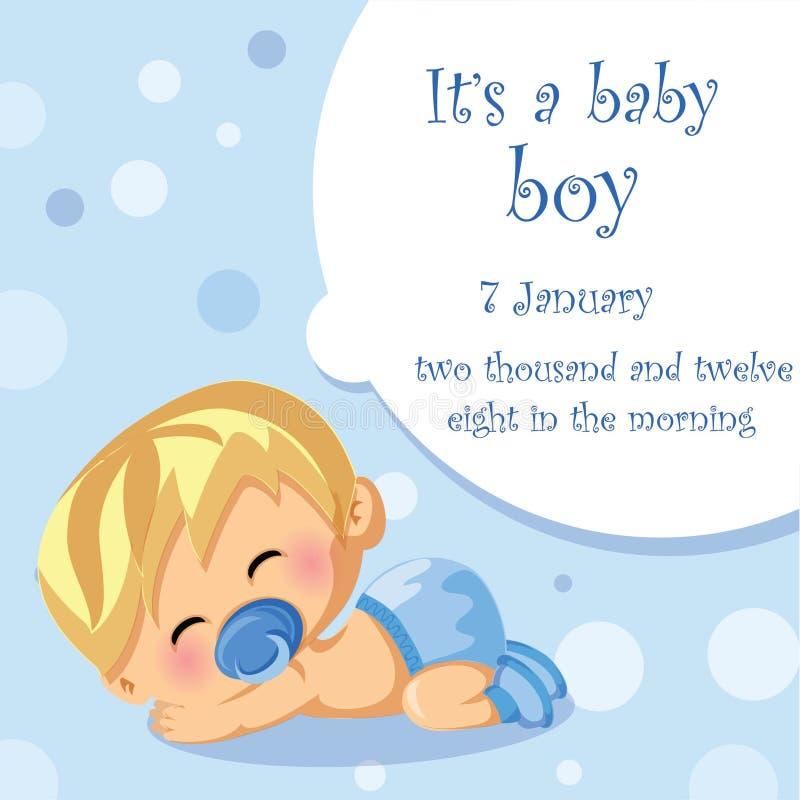 Illustrationen av behandla som ett barn pojken, bakgrund royaltyfri illustrationer