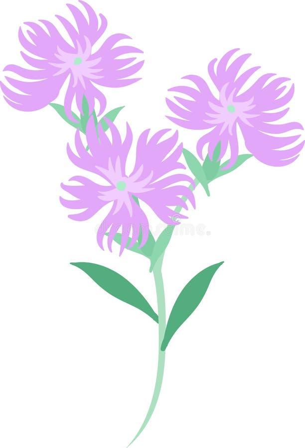 Illustrationen av blommor vektor illustrationer