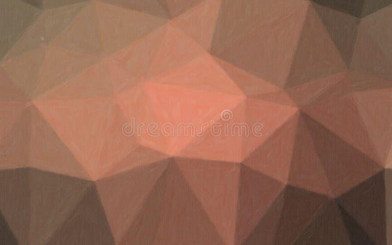Illustrationen av brun och röd pastell med färg ökar bakgrund stock illustrationer