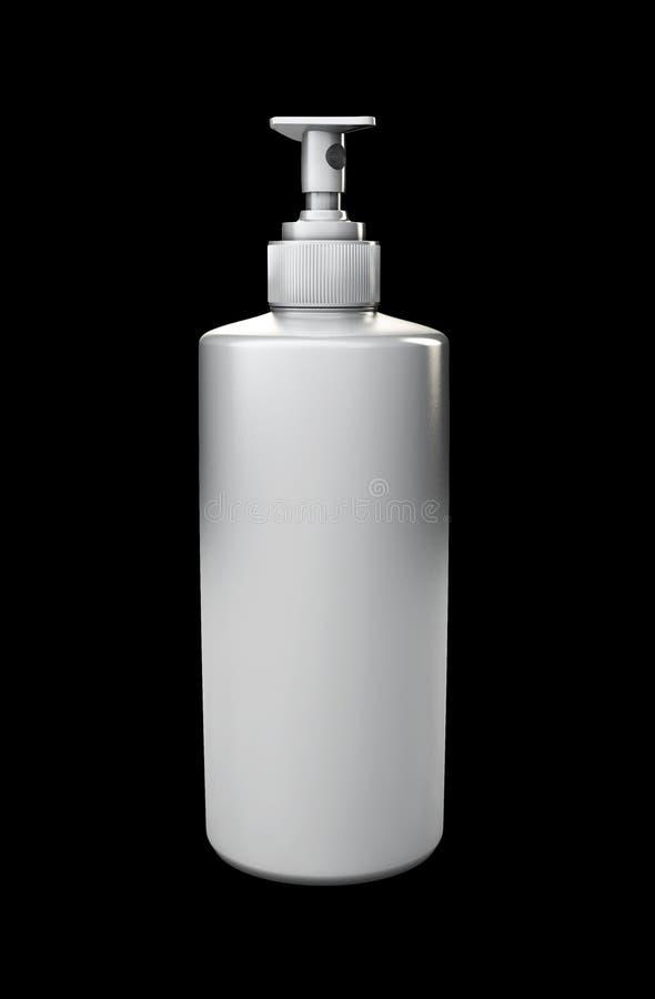 Illustrationen av den realistiska kosmetiska flaskan kan sprejarebehållaren royaltyfri illustrationer