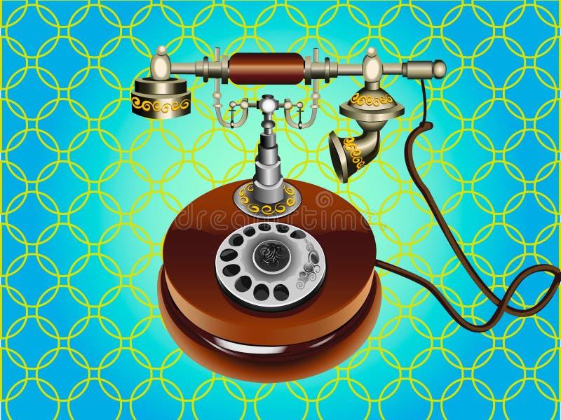 Illustrationen av den retro telefonen. arkivbilder
