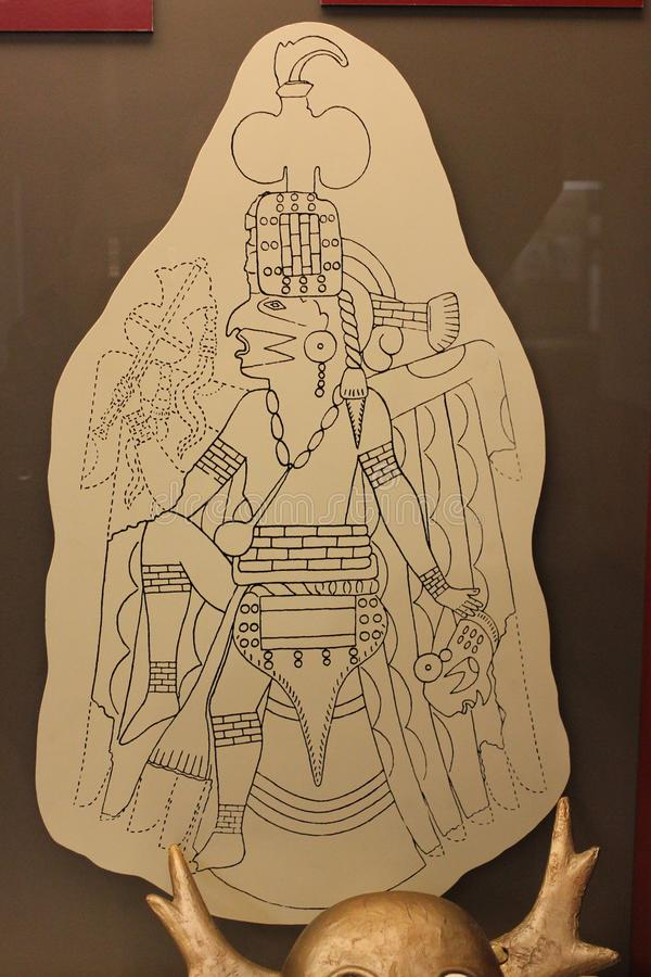 Illustrationen av en falkdansare grundar på Etowah arkivfoton