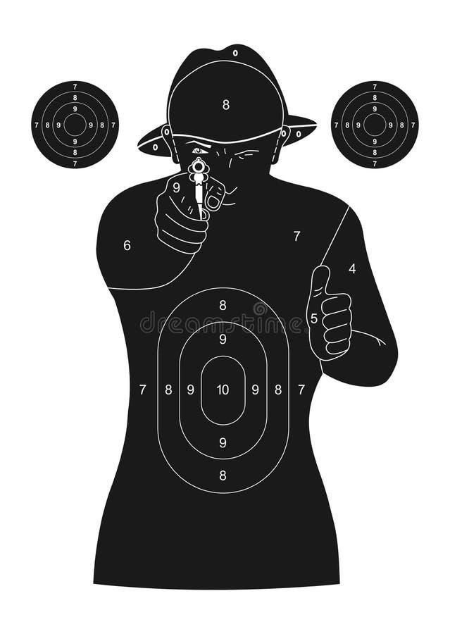 Människasilhouetten uppsätta som mål vektor illustrationer