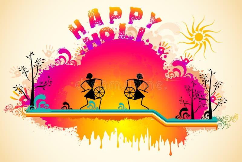 Holi bakgrund stock illustrationer