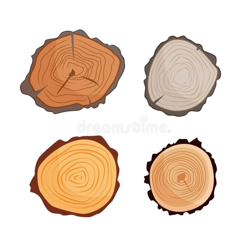 Illustrationen av trädet spottar stock illustrationer