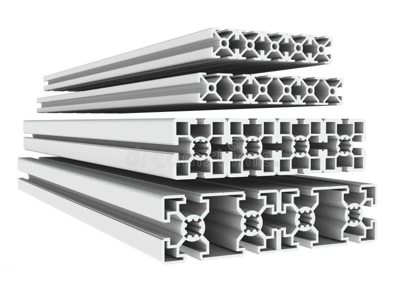 Belägga med metall profilerar stock illustrationer