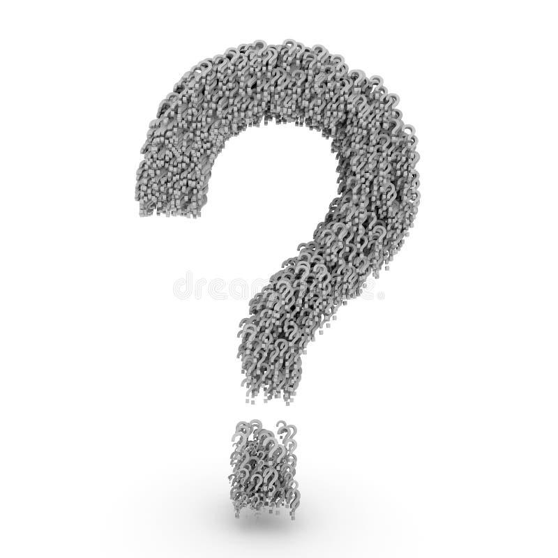 Question Markerar 3d Royaltyfri Bild