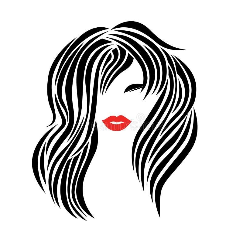 Illustrationen der Frau mit dem schönen Haar lizenzfreie abbildung