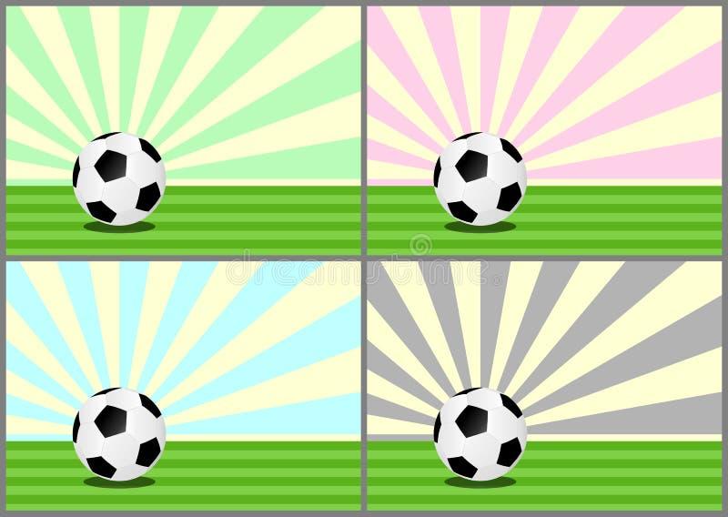 illustrationen för bollar 3d framförde fotboll royaltyfri illustrationer