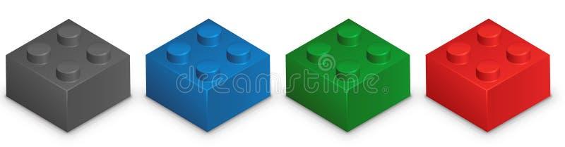 Lego vektor illustrationer
