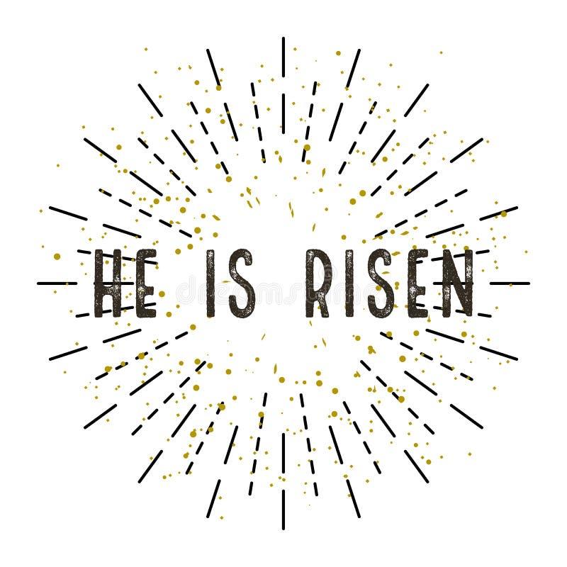 Illustrationen för påskKristus är uppstigen Vit bakgrund vektor illustrationer