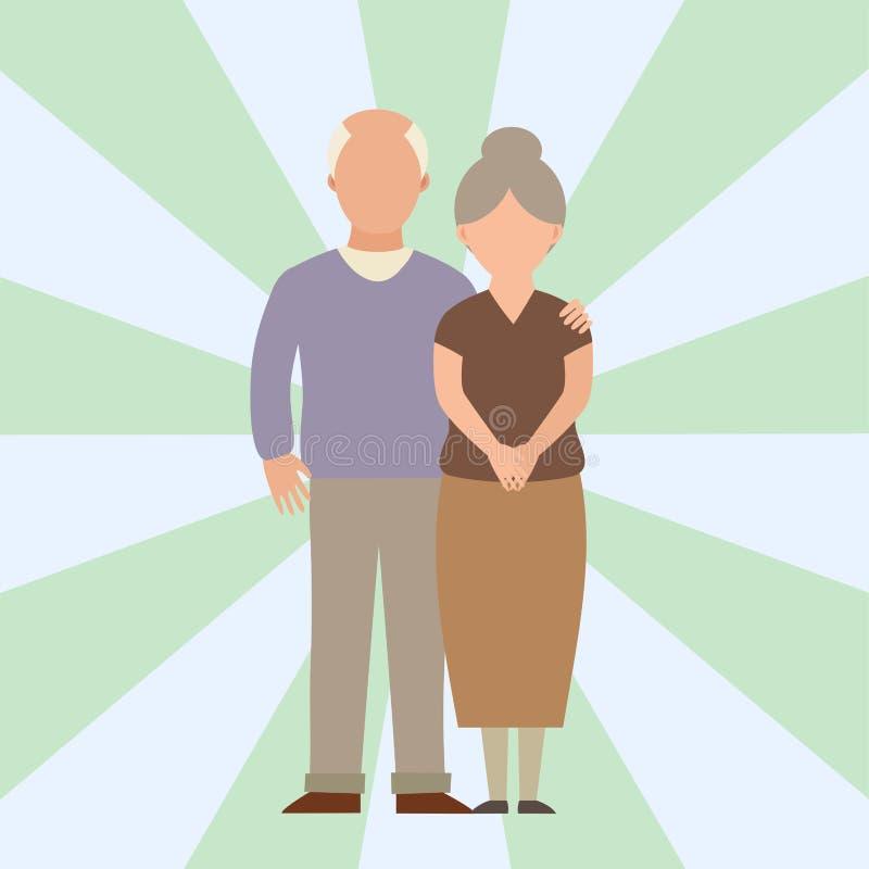 Illustrationen för vektorn för livsstilen för tecken för förhållandet för tecknade filmen för par för lycklig förälskelse för fol stock illustrationer