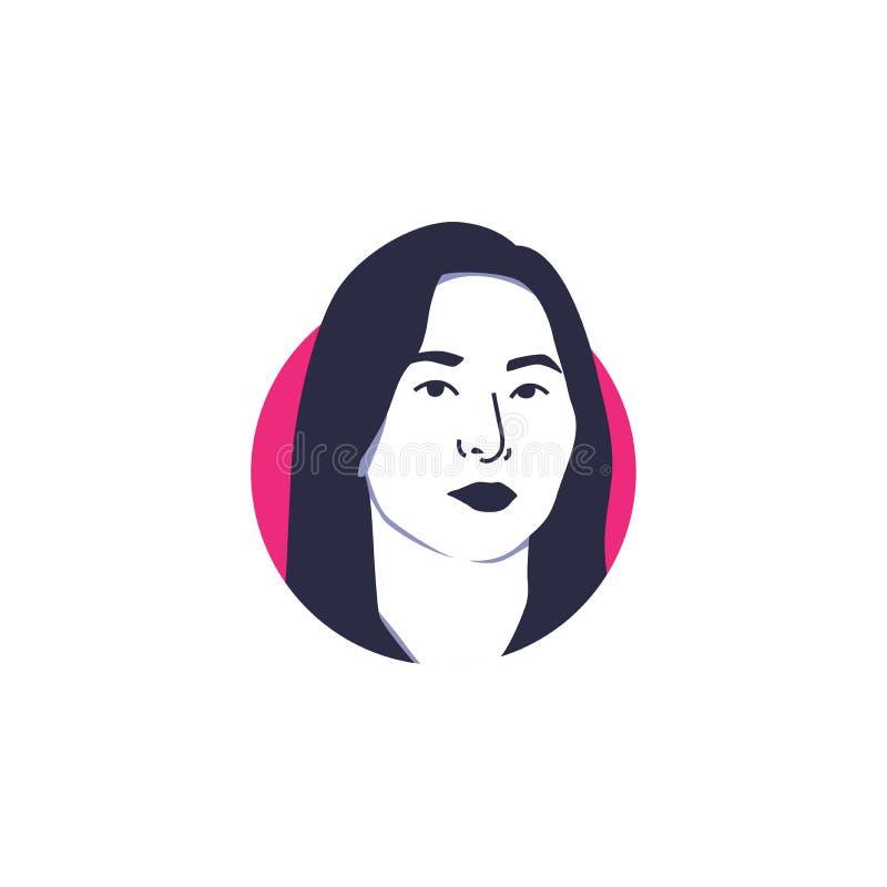 Illustrationen för vektorn för framsidan för gruppmedlemmen för den Kang Seulgi isolerade den röda sammetflickan royaltyfria bilder