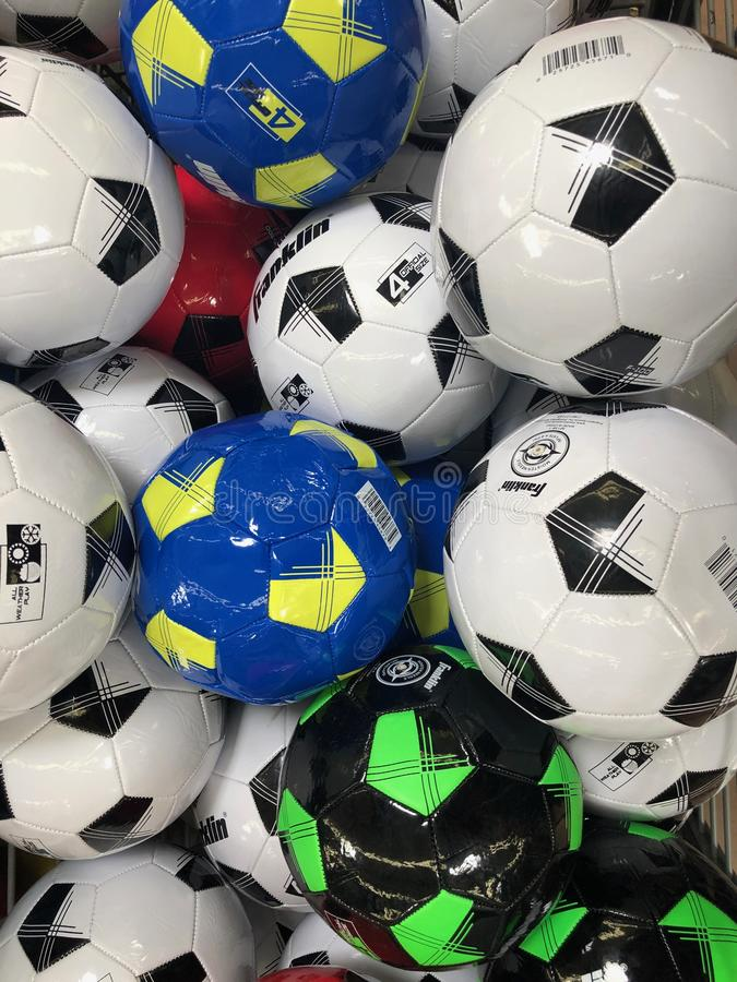 illustrationen f?r bollar 3d framf?rde fotboll fotografering för bildbyråer