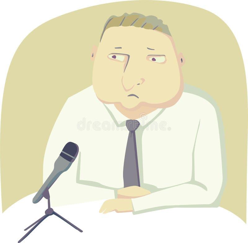 Politikar med mikrofonen stock illustrationer