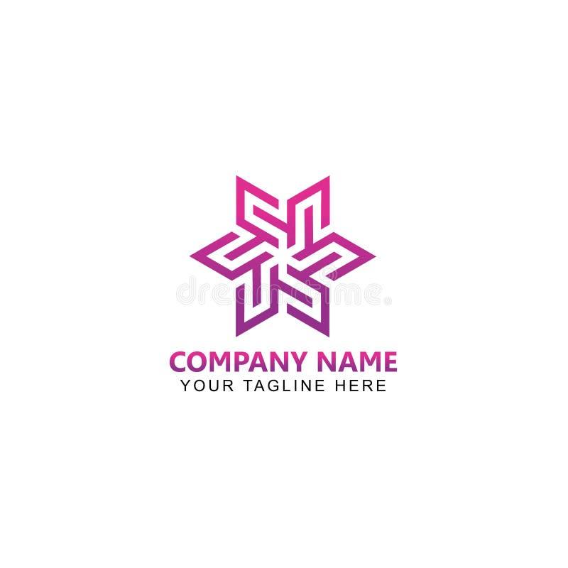 Illustrationen zeichnen Art Logo Design Vector lizenzfreie abbildung