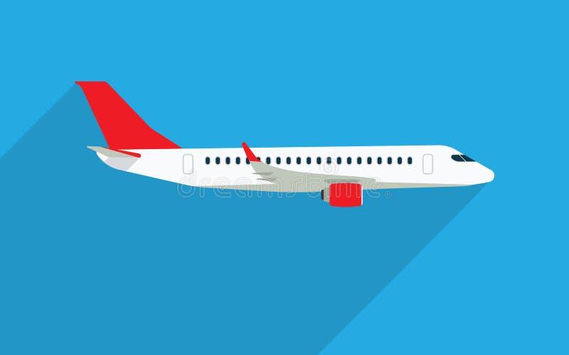 Illustrationer för flygplanvektorlägenhet stock illustrationer