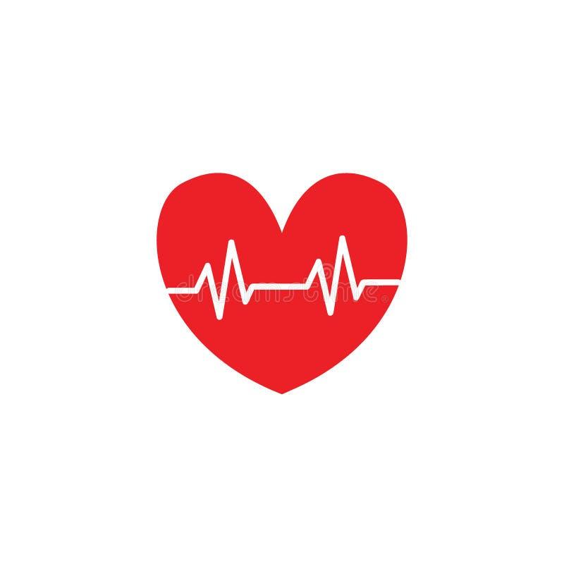 Illustrationer för symbol för förälskelse för hjärtatakt stock illustrationer