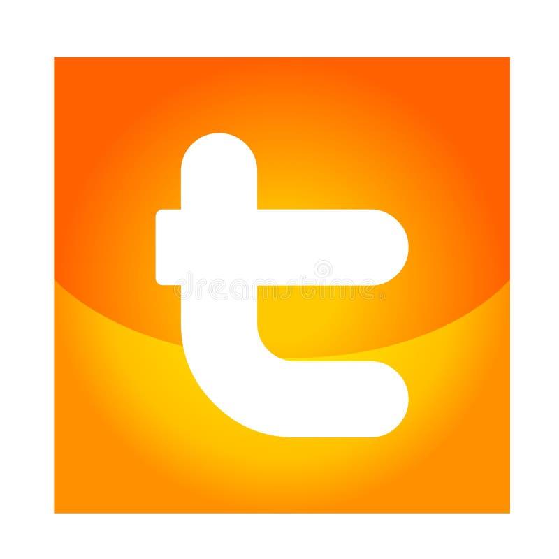 Illustrationer f?r vektor f?r Twitter logosymbol p? vit bakgrund royaltyfri illustrationer