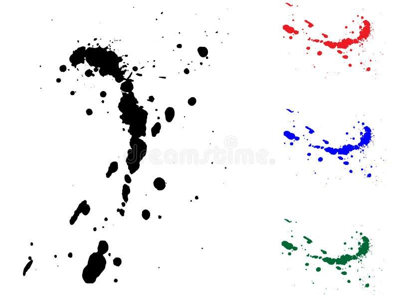 illustrationfärgpulverfärgstänk stock illustrationer