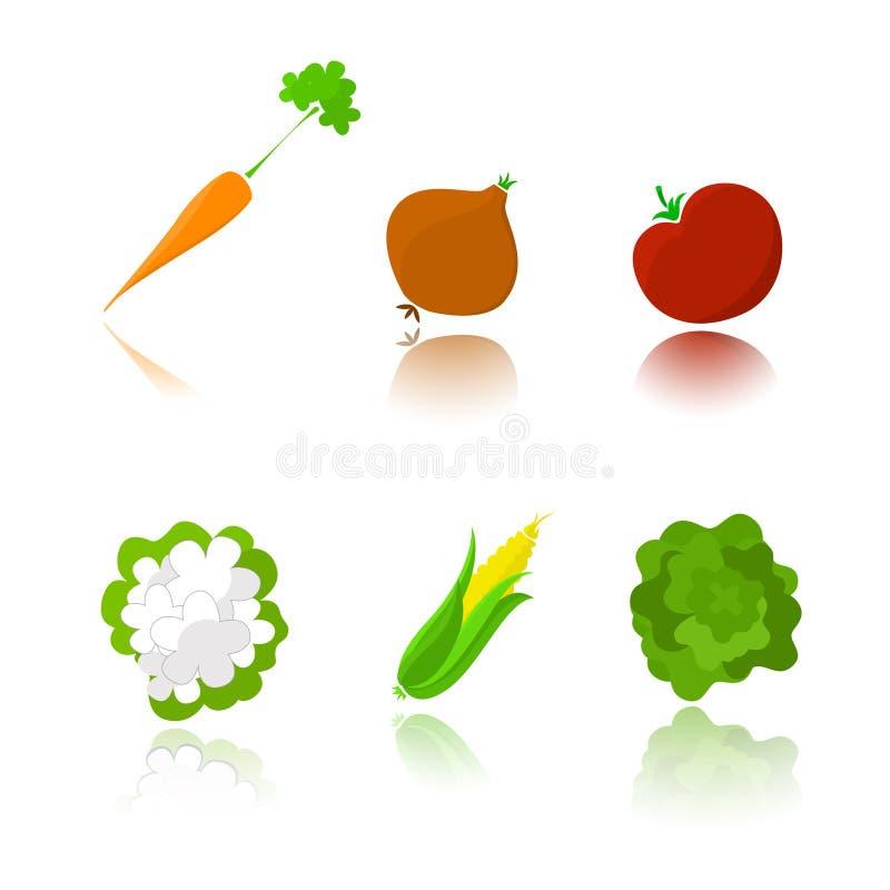 illustrationgrönsaker royaltyfri illustrationer