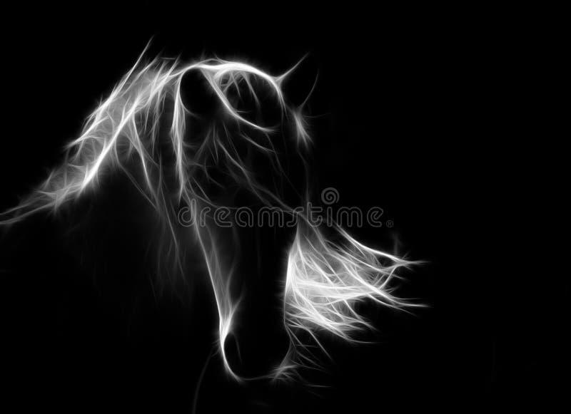 illustrationhäst på mörk bakgrund royaltyfria bilder