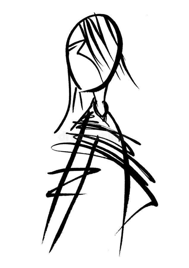 illustrationkvinna stock illustrationer