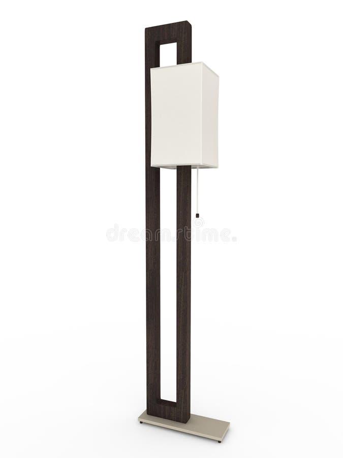 illustrationlampa för golv 3d stock illustrationer
