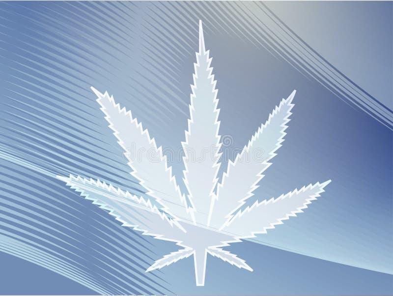 illustrationleafmarijuana vektor illustrationer
