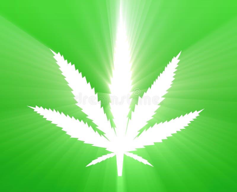 illustrationleafmarijuana royaltyfri illustrationer