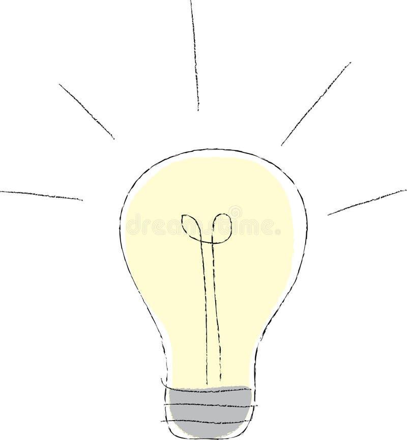 illustrationlightbulb vektor illustrationer