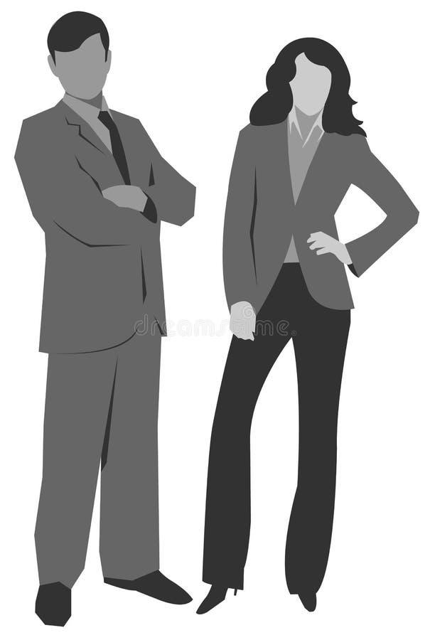 illustrationmannen silhouettes kvinnan vektor illustrationer